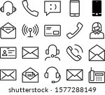 contact vector icon set such as ...