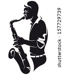 Saxophonist  Silhouette