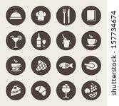 restaurant icons | Shutterstock .eps vector #157734674