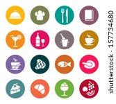 restaurant icons | Shutterstock .eps vector #157734680