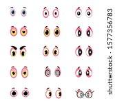 large set of people cartoon...   Shutterstock .eps vector #1577356783