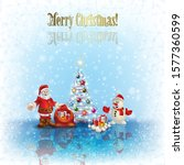 abstract christmas background... | Shutterstock . vector #1577360599