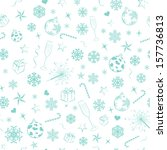 seamless pattern from christmas ... | Shutterstock .eps vector #157736813