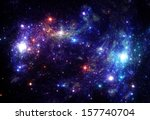 stars background - stock photo