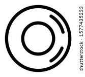 plate icon outline vector design | Shutterstock .eps vector #1577435233