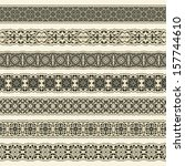 vintage border set for design  | Shutterstock .eps vector #157744610