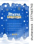 merry christmas flyer. winter... | Shutterstock .eps vector #1577465743