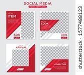 set modern square editable...   Shutterstock .eps vector #1577488123