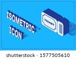 isometric ticket icon isolated... | Shutterstock .eps vector #1577505610