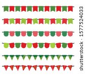 christmas flags isolated on...   Shutterstock .eps vector #1577524033