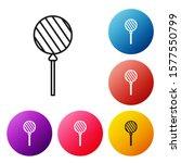 black line lollipop icon... | Shutterstock .eps vector #1577550799