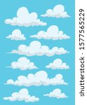 set of clouds different shapes | Shutterstock .eps vector #1577565229