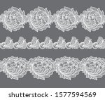 seamless lace flowers...   Shutterstock .eps vector #1577594569