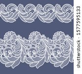 seamless  lace white floral  ...   Shutterstock .eps vector #1577595133