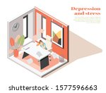 mental health at workplace... | Shutterstock .eps vector #1577596663