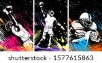 american football player.... | Shutterstock .eps vector #1577615863