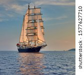 Sailing Ship Under White Sails...