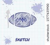sketch line american football...   Shutterstock . vector #1577635900