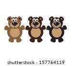 Vector Illustration Of 3 Bears