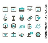 seo icon set   color | Shutterstock .eps vector #157766858