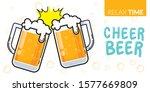 vector of two glass of beer...   Shutterstock .eps vector #1577669809