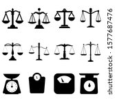 Scales Icon Vector Set. Scale...