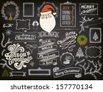 christmas design elements on... | Shutterstock .eps vector #157770134