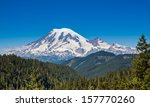Mount Rainier Towers Over The...
