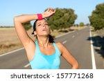 tired runner sweating after... | Shutterstock . vector #157771268