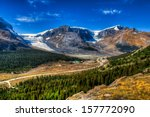 Wilcox Pass, and views of the Columbia Icefields, Jasper National Park, Alberta Canada