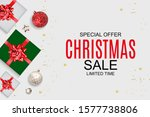 christmas and new year sale... | Shutterstock .eps vector #1577738806