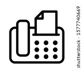 fax icon with outline style....