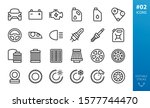 car parts icons set. set of...   Shutterstock .eps vector #1577744470