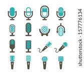 microphone vector set   color | Shutterstock .eps vector #157776134