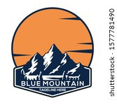 blue mountain logo icon vector | Shutterstock .eps vector #1577781490