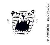 hand drawn tiger illustration... | Shutterstock . vector #1577791723