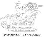 vector illustration  santa...   Shutterstock .eps vector #1577830030
