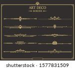 set of art deco gold... | Shutterstock .eps vector #1577831509