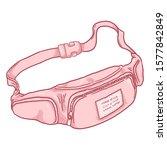 vector cartoon pink belt bag...   Shutterstock .eps vector #1577842849