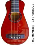 Small Red Guitar Body On White...