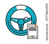 video game car wheel control...