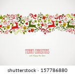 merry christmas decorations... | Shutterstock .eps vector #157786880