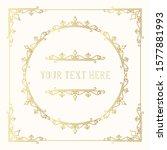 hand drawn golden elegant... | Shutterstock .eps vector #1577881993