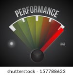 performance level measure meter ... | Shutterstock . vector #157788623