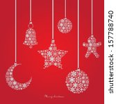 christmas ornaments made from... | Shutterstock .eps vector #157788740