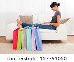 young beautiful woman sitting...   Shutterstock . vector #157791050