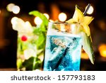 Cold Blue Cocktail In A Night...