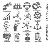 advertising and marketing icons.... | Shutterstock . vector #1577936029