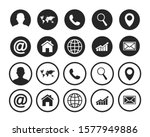 contact us icons. web icon set | Shutterstock .eps vector #1577949886