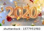 2020 happy new year trendy... | Shutterstock .eps vector #1577951983